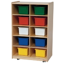 Wood Designs WD16103 Vertical Storage with 10 Assorted Trays , 38.00