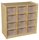 Wood Designs WD16121 (12) Cubby Storage with Translucent Trays , 30.00