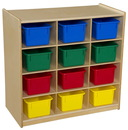 Wood Designs WD16123 (12) Cubby Storage with Assorted Trays , 30.00