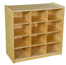 Wood Designs WD16129 (12) Cubby Storage without Trays , 30.00