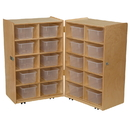 Wood Designs WD16201 Folding Vertical Storage with (20) Translucent Trays , 38.00