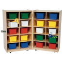 Wood Designs WD16203 Folding Vertical Storage with (20) Assorted Trays , 38.00