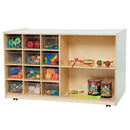 Wood Designs WD16601 Double Mobile Storage with (12) Translucent Trays , 30.00