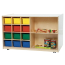 Wood Designs WD16603 Double Mobile Storage with (12) Assorted Trays , 30.00