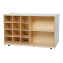 Wood Designs WD16609 Double Mobile Storage without Trays , 30.00