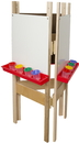 Wood Designs WD18625 3-Sided Easel with Markerboard , 48.00