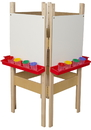 Wood Designs WD19125 4 Sided Easel with Markerboard , 48.00