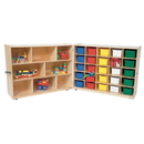 Wood Designs WD23603 Tray &Shelf Folding Storage with (25) Assorted Trays , 38.00
