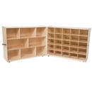 Wood Designs WD23609 Tray &Shelf Folding Storage without Trays , 38.00