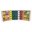 Wood Designs WD25503 25 Tray Tri-Fold Storage with (25) Assorted Trays , 38.00