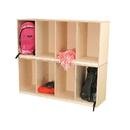 Wood Designs WD46420 Open Stack Locker - Two Unit , 40.00