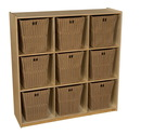 Natural Environments WD50900-720 (9) Cubby Storage with Large Baskets , 49.00