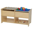 Wood Designs WD85600 Build-N-Play Table with Checkerboard , 19.00