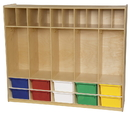 Wood Designs WD990096AT Locker and Communication Center with 10 Assorted Trays , 49.00