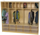 Wood Designs WD990096CT Locker and Communication Center with 10 Translucent Trays , 49.00