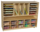 Wood Designs WD990202CT Multi-Storage with 10 Translucent Trays , 38.00