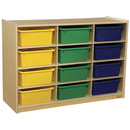 Wood Designs WD990315AT Cubby Shelves with Assorted Trays , 42.44