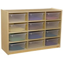 Wood Designs WD990315CT Cubby Shelves with Translucent Trays , 42.44