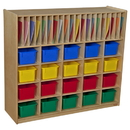 Wood Designs WD990326AT Multi-Storage with 20 Assorted Trays , 42.44