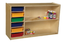 Wood Designs WD990331AT Shelf Storage with Assorted Trays , 30.00