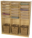 Wood Designs WD990343CT Cubby Locker with Translucent Trays , 59.00