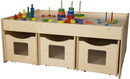Wood Designs WD990753-6BN Activity Island with Rolling Storage , 34.00