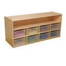 Wood Designs WD99609CT Mobile Low Storage with 10 Translucent Trays , 23.00