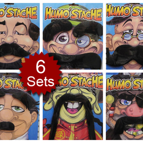 Assorted Mustaches - Stylish Fake Moustache Set, Price/6 PCS