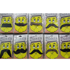 Self Adhesive Fake Mustaches Costume Party Disguise, Christmas Gift, Party Favors, Price/10 PCS