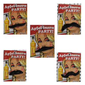 Oparty Mustache for Ladies, Stylish Self Adhesive Mustaches, Halloween Novelty and Toy, Price/10 PCS