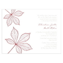 Weddingstar Autumn Leaf Invitation