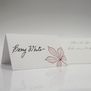 Weddingstar Autumn Leaf Place Card With Fold