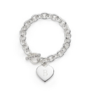 Weddingstar 41094 Silver Plated Heart Link Bracelet