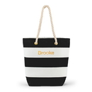 Weddingstar 4405-10 Bliss Striped Tote - Black and White