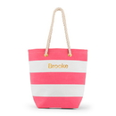 Weddingstar 4405-25 Bliss Striped Tote - Pink and White