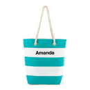 Weddingstar 4405-28 Bliss Striped Tote - Blue and White