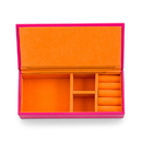Weddingstar 4459-31 Vegan Leather Jewelry Box - Pink with Orange