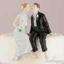 Weddingstar 6080 Whimsical Sitting Bride and Groom - Caucasian