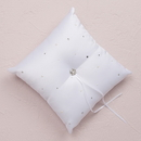 Weddingstar 6139 Scattered Pearls & Crystals Square Ring Pillow - Ivory