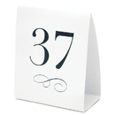 Weddingstar 7022-1 Table Number Tent Style Card - Numbers 1-12