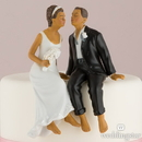 Weddingstar 7085 Whimsical Sitting Bride and Groom - Non-Caucasian