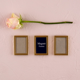 Weddingstar 8056-77 Magnet Back Mini Photo Frame - Brushed Silver, Price/Packags of 3