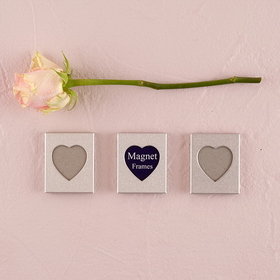 Weddingstar 8415 Mini Magnet Back Aluminum Heart Photo Frame, Price/Packags of 3