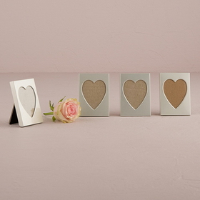Weddingstar 8416 Mini Easel Back Aluminum Heart Photo Frame, Price/Packags of 4