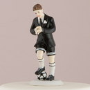 Weddingstar 8447 Soccer Player Groom Mix & Match Cake Topper, Groom Only