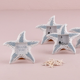 Weddingstar 8460 Small Wooden Starfish Photo Frame, Price/Packags of 8