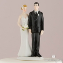 "Weddingstar 8664 ""The Love Pinch"" Bridal Couple Figurine - Caucasian Couple"