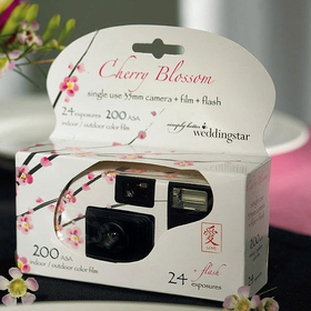 Weddingstar 8674 Single Use Camera - Cherry Blossom Design