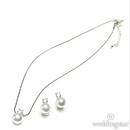 Weddingstar 8753 White Pearl with Crystal Jewelry Earrings