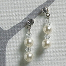 Weddingstar 8763 Illusion Set Pearls and Crystals Jewelry Earrings